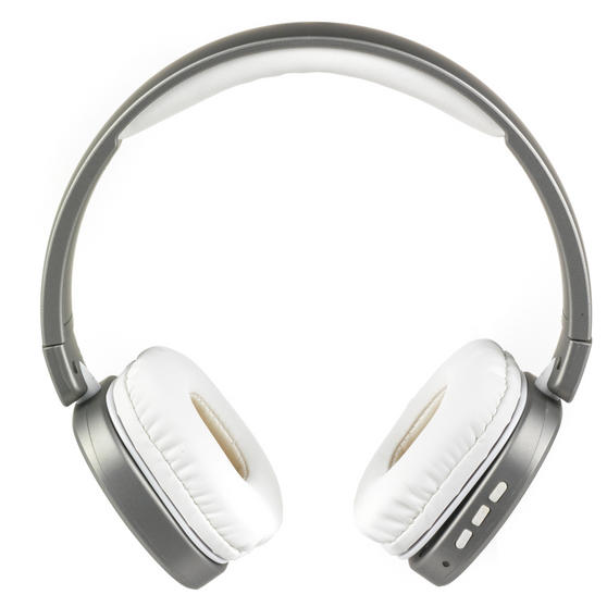 Intempo Metallic Wireless WDS28 Bluetooth Stereo Headphones, Silver