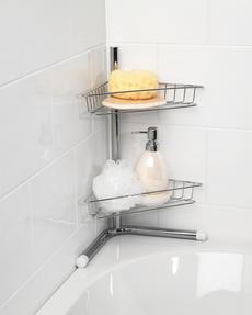 Beldray LA037114 2-Tier Bath Corner Caddy, Stainless Steel, Chrome Thumbnail 3