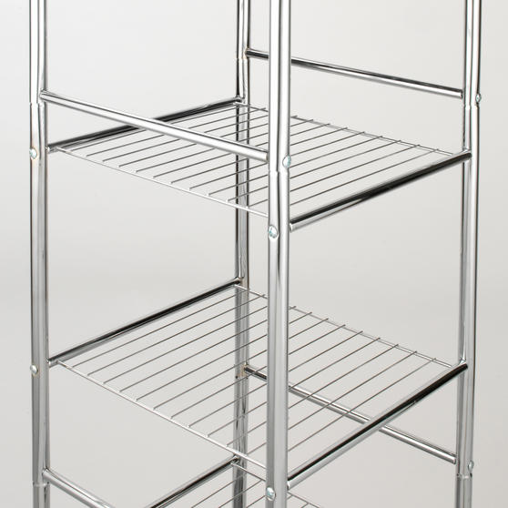 Beldray 6-Tier Bathroom Shelf Unit with Adjustable Feet, Chrome Thumbnail 3