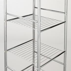 Beldray LA037770 6-Tier Bathroom Shelf Unit with Adjustable Feet, Chrome Thumbnail 3