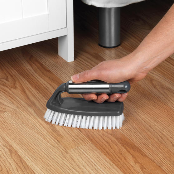 Beldray Household Scrubbing Brush for Tiles and Hard Floors with Handle, Grey Thumbnail 3