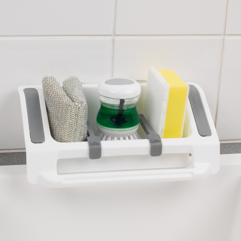 Beldray Plastic Wall Suction Storage Sink Caddy