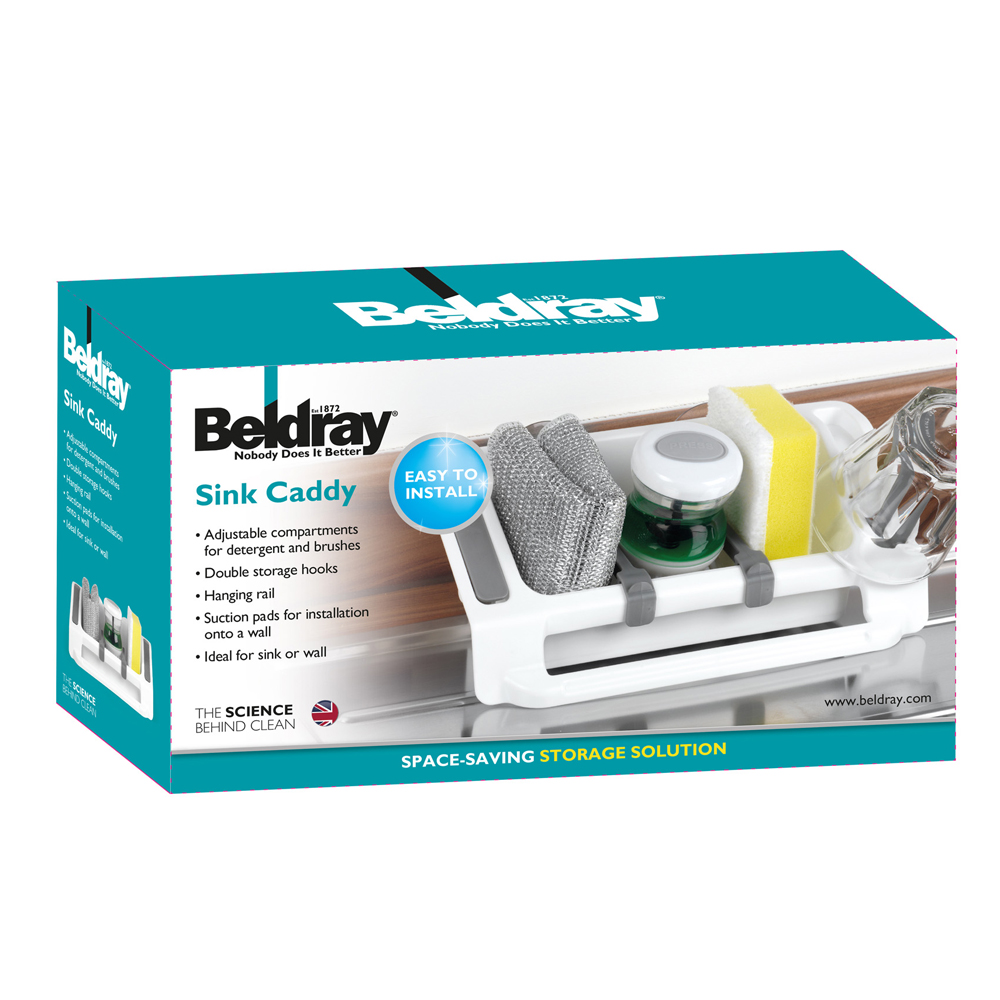 Beldray Plastic Wall Suction Storage Sink Caddy