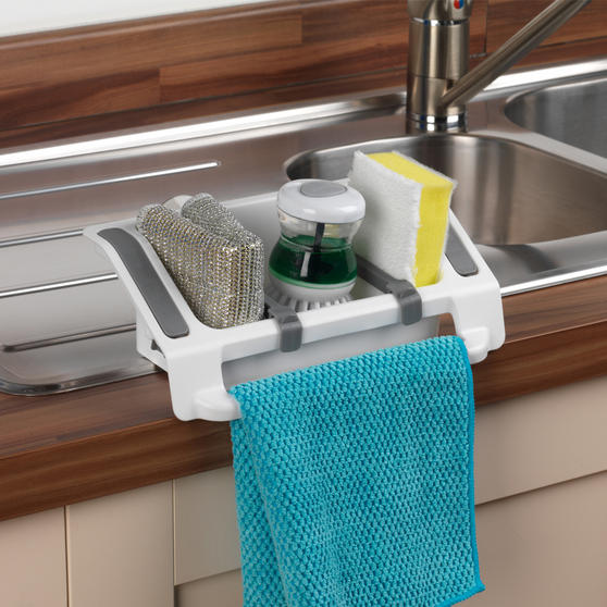 Beldray Plastic Wall Suction Storage Sink Caddy Thumbnail 4