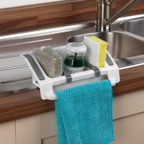 Beldray LA042897 Plastic Wall Suction Storage Sink Caddy Thumbnail 4