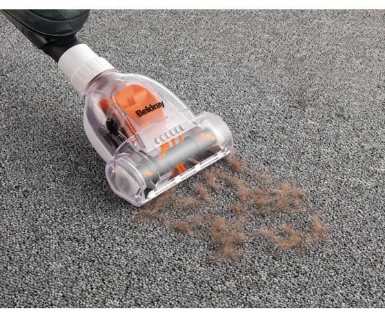 Beldray Multifunctional 2 in 1 Corded Stick Handheld Vacuum Cleaner, 600W, Orange/White Thumbnail 7