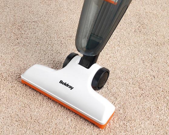 Beldray Multifunctional 2 in 1 Corded Stick Handheld Vacuum Cleaner, 600W, Orange/White Thumbnail 5