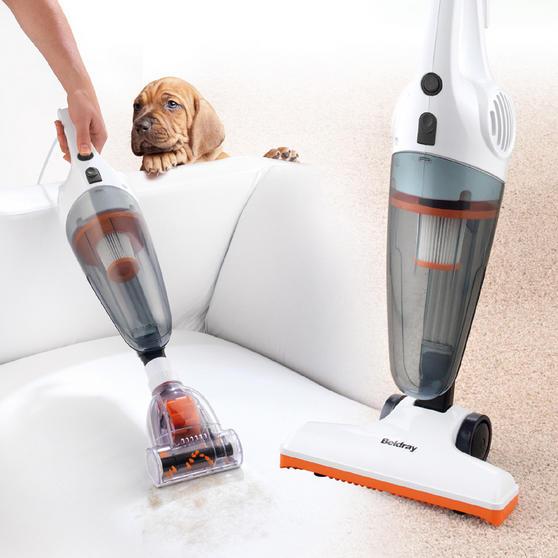 Beldray Multifunctional 2 in 1 Corded Stick Handheld Vacuum Cleaner, 600W, Orange/White Thumbnail 2