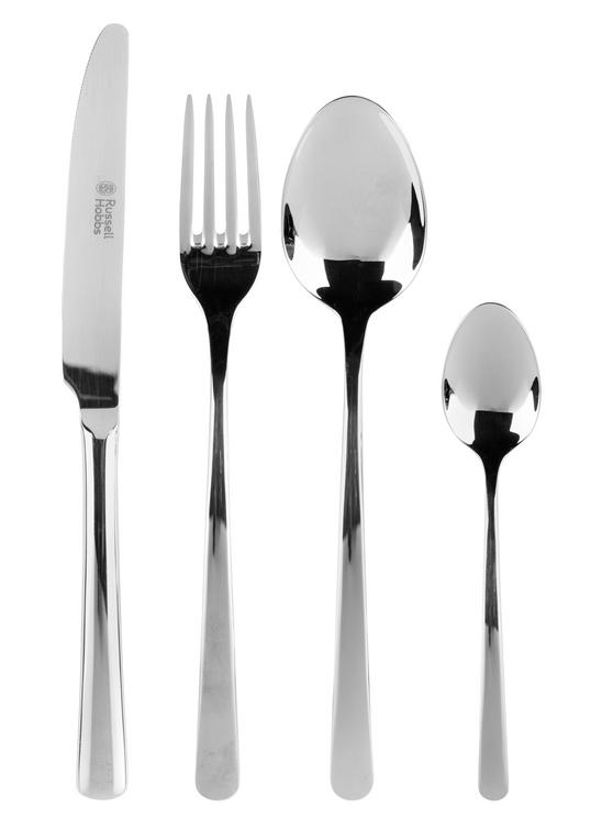 Russell Hobbs RH00023 Deluxe Vienna Stainless Steel 24 Piece Cutlery Set, 15 Year Guarantee