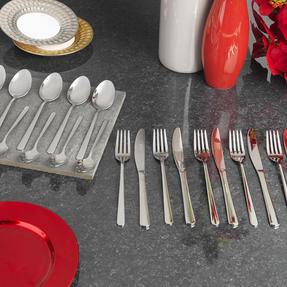 Russell Hobbs RH00023 Deluxe Vienna Stainless Steel 24 Piece Cutlery Set, 15 Year Guarantee Thumbnail 2