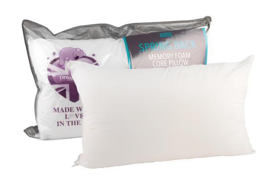Dreamtime MF02650 Spring Back Memory Foam Pillow, White