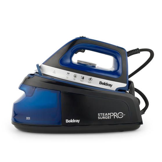 Beldray Steam Surge Pro Iron with Vertical Steaming, 1.2 L, 2400 W, Blue Main Image 2