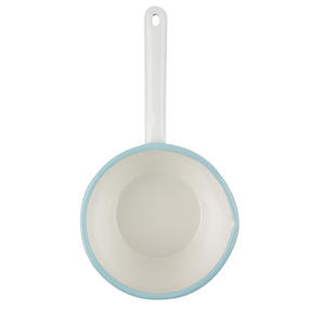 Salter BW06614CB Enamel Coated Milk Pan, 14 cm, Cream/Blue Thumbnail 3