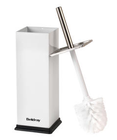 Beldray LA034038WH Stainless Steel Toilet Brush, White Thumbnail 2