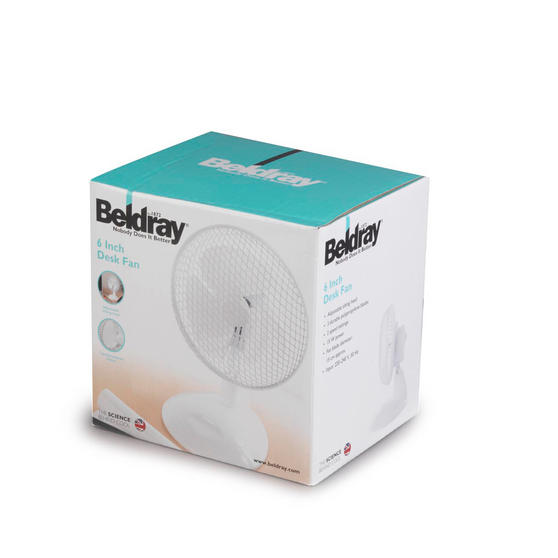 "Beldray 2 Speed Personal Desktop Fan, 6"", White  Thumbnail 4"