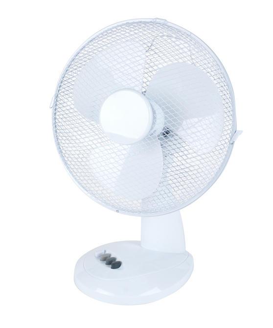 Beldray Oscillating Desktop Fan, 12-Inch, White Thumbnail 1