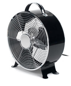 Beldray EH2667BLKSTK 8-Inch Retro Vintage Desktop Clock Fan, Black, 20 W