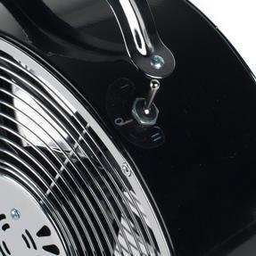 Beldray EH2667BLKSTK 8-Inch Retro Vintage Desktop Clock Fan, Black, 20 W Thumbnail 4