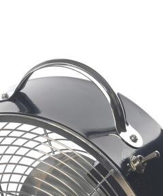 Beldray EH2667BLKSTK 8-Inch Retro Vintage Desktop Clock Fan, Black, 20 W Thumbnail 5