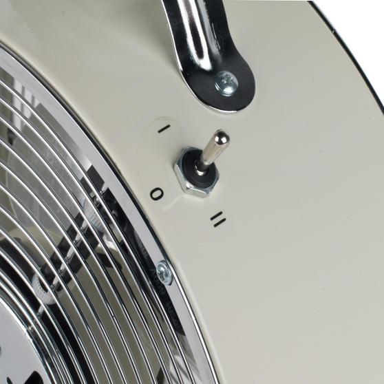Beldray 8-Inch Desktop Clock Fan, Cream, 20 W Thumbnail 4