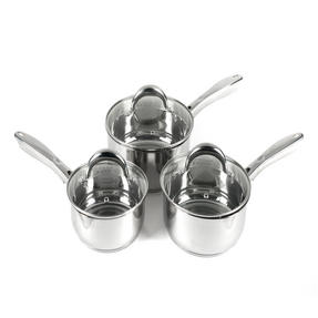 Russell Hobbs RH00152 Optimum Collection Stainless Steel 3 Piece Pan Set, 16, 18, 20 cm Thumbnail 1