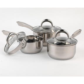 Russell Hobbs RH00152 Optimum Collection Stainless Steel 3 Piece Pan Set, 16, 18, 20 cm Thumbnail 2