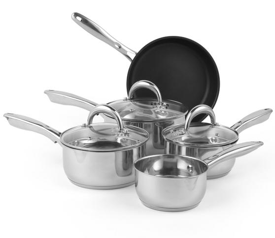 Russell Hobbs RH00165 Optimum Collection Stainless Steel 5 Piece Pan Set