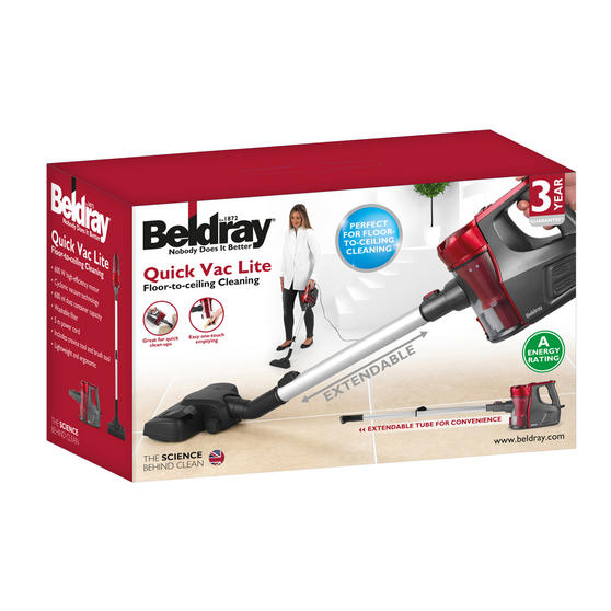 Beldray Quick Vac Lite Multi-Surface Vacuum Cleaner, 600 W Thumbnail 7
