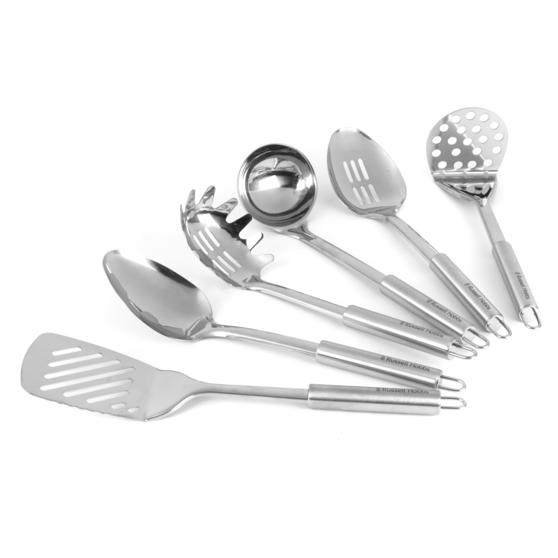 Russell Hobbs Stainless Steel Kitchen Utensil Set With Stand 6 Piece
