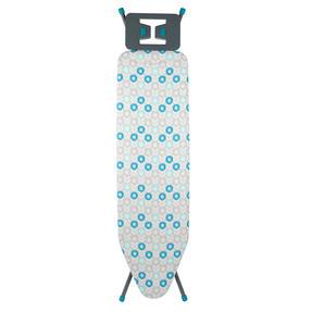 Beldray LA024398RET Retro Ironing Board, 137 x 38 cm, Floral Print, Blue Thumbnail 1