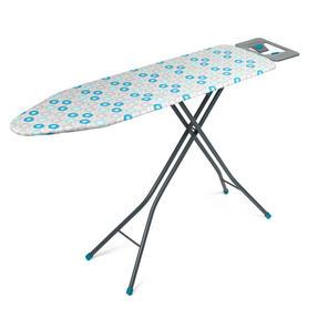 Beldray LA024398RET Retro Ironing Board, 137 x 38 cm, Floral Print, Blue Thumbnail 6