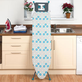 Beldray LA024398RET Retro Ironing Board, 137 x 38 cm, Floral Print, Blue Thumbnail 4
