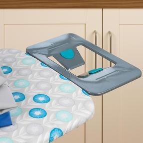 Beldray LA024398RET Retro Ironing Board, 137 x 38 cm, Floral Print, Blue Thumbnail 2