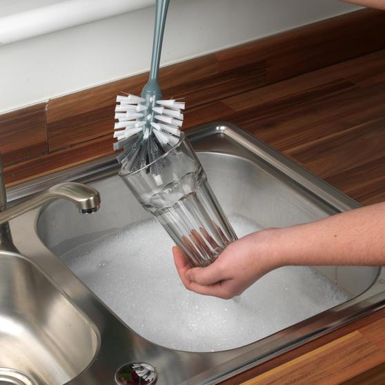 Beldray Kitchen Dish and Glass Cleaning Brush Set, Set of 3, Grey / White Main Image 2