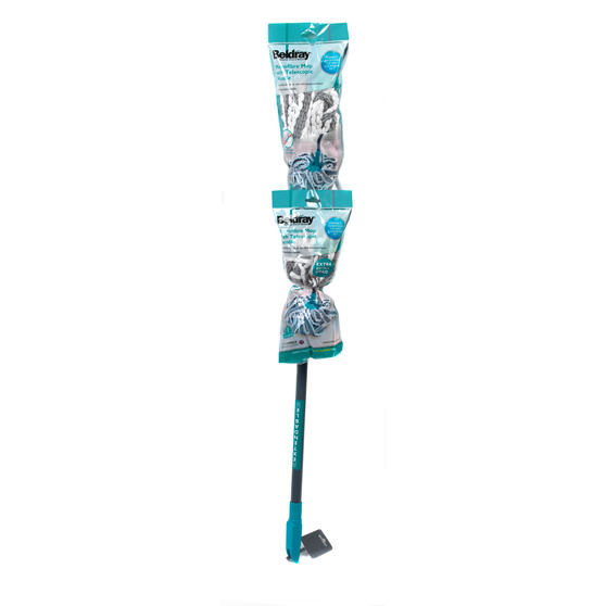 Beldray Microfibre Mop with Telescopic Handle and Extra Head Thumbnail 8