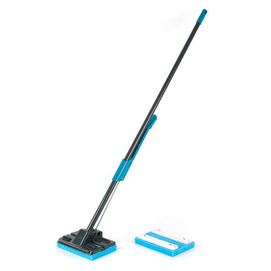 Beldray LA050915 Sponge Mop with Long Handle and Extra Sponge Head, Black/Blue