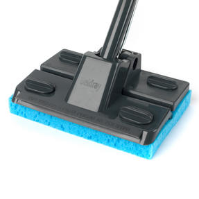 Beldray LA050915 Sponge Mop with Long Handle and Extra Sponge Head, Black/Blue Thumbnail 6