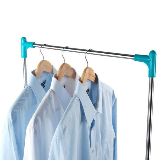 Beldray Large Stainless Steel Clothes Horse Airer with High Hanger, Grey / Blue Thumbnail 8