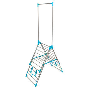 Beldray LA052094 Large Stainless Steel Clothes Horse Airer with High Hanger, Grey / Blue Thumbnail 4