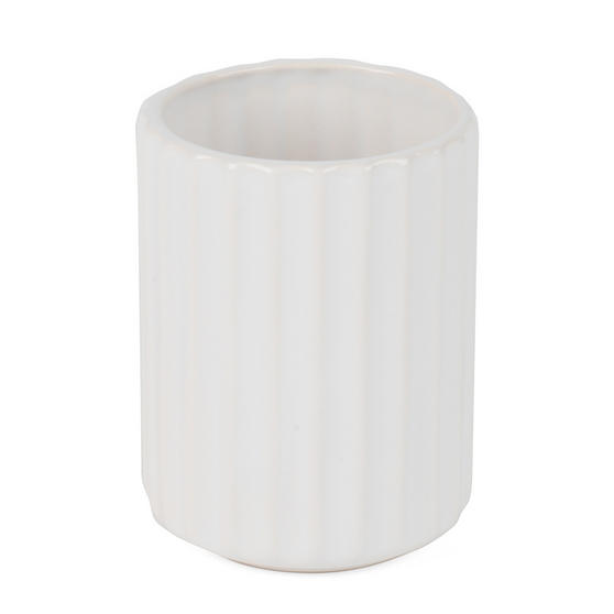 Beldray Dolomite Ceramic Bathroom Toothbrush Tumbler, White Thumbnail 3