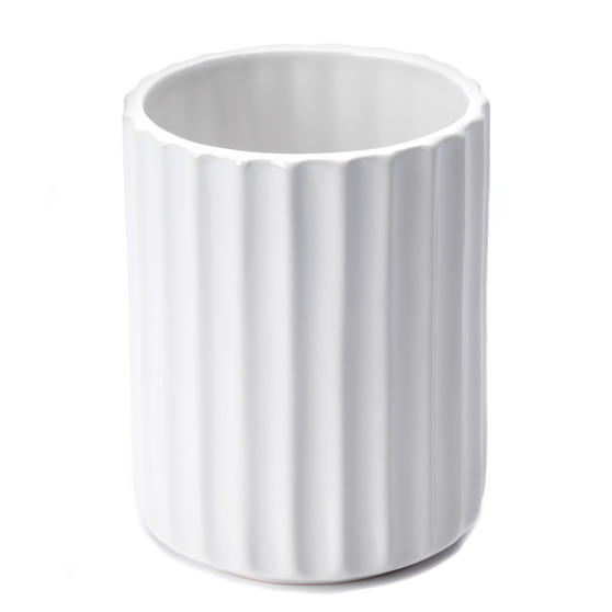 Beldray Dolomite Ceramic Bathroom Toothbrush Tumbler, White Thumbnail 1