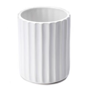 Beldray LA045591 Dolomite Ceramic Bathroom Toothbrush Tumbler, White Thumbnail 1