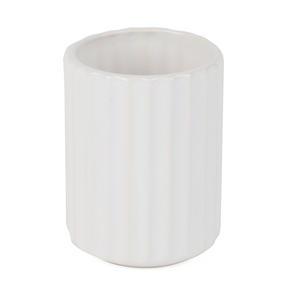 Beldray LA045591 Dolomite Ceramic Bathroom Toothbrush Tumbler, White Thumbnail 3