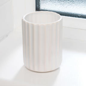 Beldray LA045591 Dolomite Ceramic Bathroom Toothbrush Tumbler, White Thumbnail 2