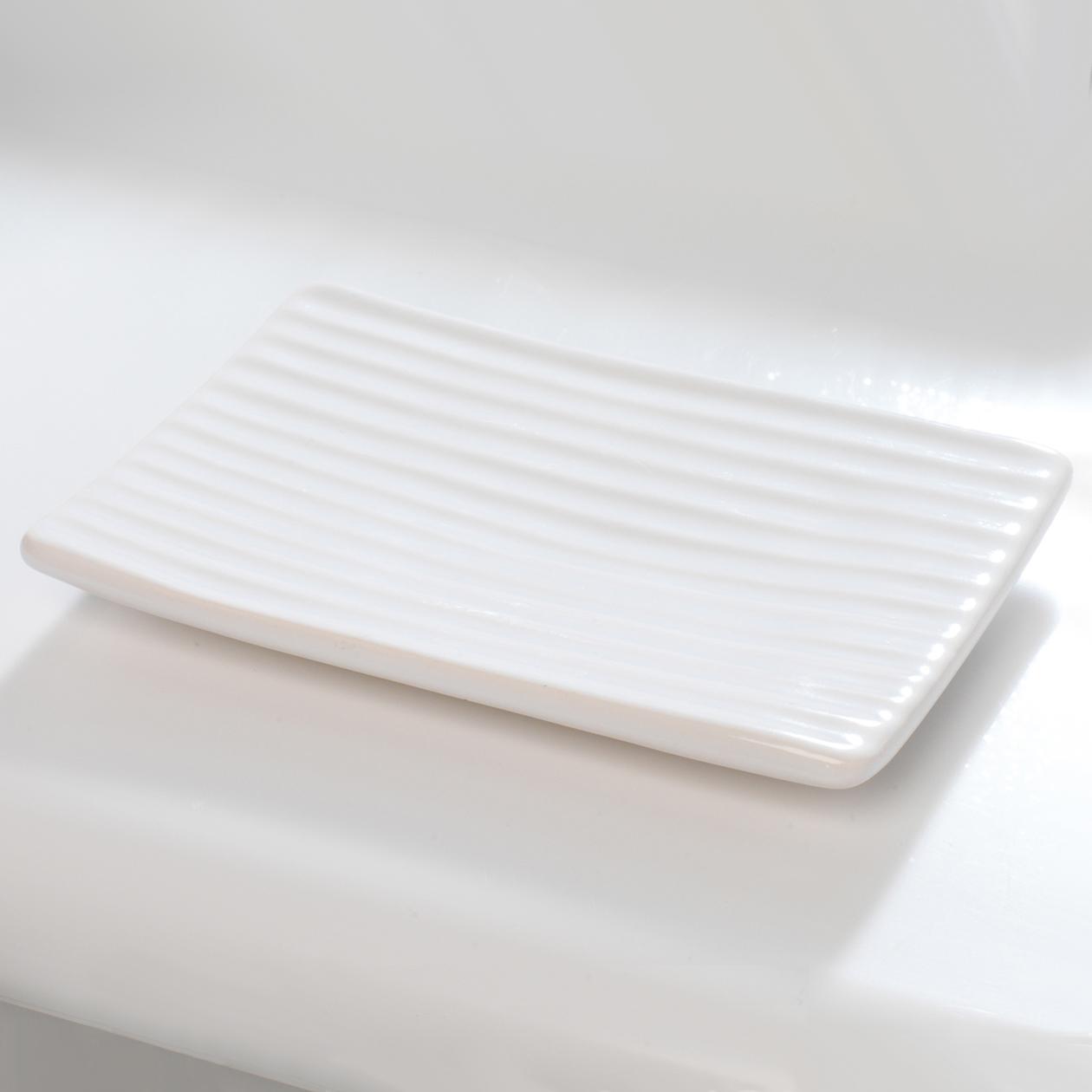 Beldray Dolomite Ceramic Bathroom Soap Dish White Beldray