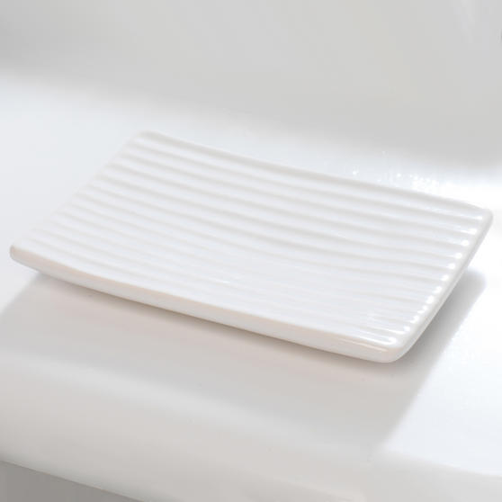 Beldray Dolomite Ceramic Bathroom Soap Dish, White Thumbnail 2