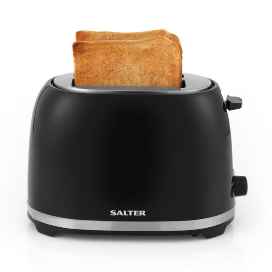 Salter EK2937 Deco Collection 2 Slice Toaster, Black / Stainless Steel, 850 W