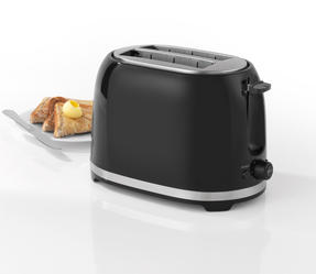 Salter EK2937 Deco Collection 2 Slice Toaster, Black / Stainless Steel, 850 W Thumbnail 3
