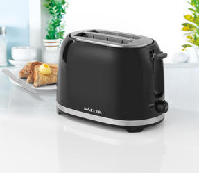 Salter EK2937 Deco Collection 2 Slice Toaster, Black / Stainless Steel, 850 W Thumbnail 4