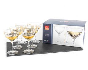 RCR 25284020006 Crystal Glassware Fluente Champagne Cocktail Glasses, Set of 6 Thumbnail 2